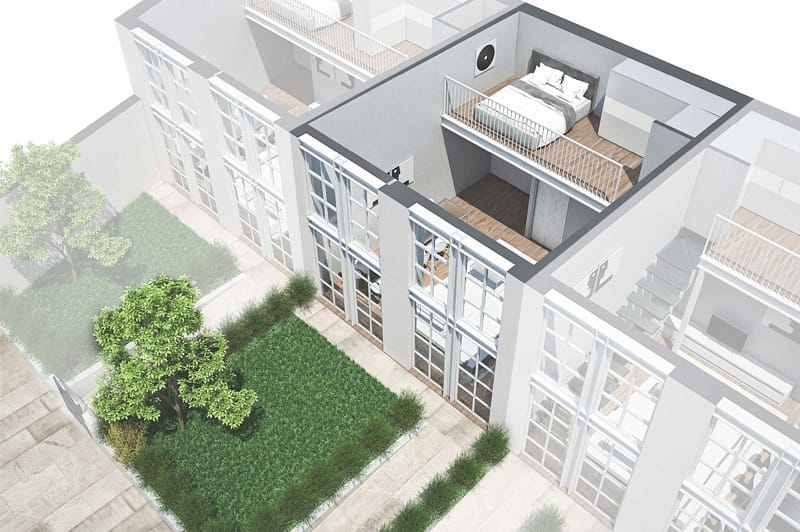 loft torino con giardino brescia 42